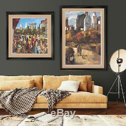 40Wx32H VILLAGE HIDEAWAY by HOWARD BEHRENS DOUBLE MATTE, GLASS and FRAME