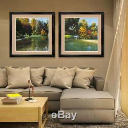 44Wx26H LATE EVENING IN AUTUMN by MAX HAYSLETTE DOUBLE MATTE, GLASS and FRAME