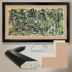 44Wx26H NUMBER 8 1949 by JACKSON POLLOCK DOUBLE MATTE, GLASS and FRAME