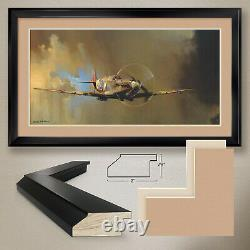 44Wx26H SPITFIRE II by BARRY CLARK FIGHTER DOUBLE MATTE, GLASS and FRAME