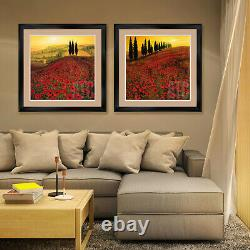 44Wx26H SPRING N. 13 by ANTONIO MASSA FLORAL DOUBLE MATTE, GLASS and FRAME