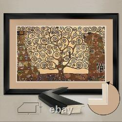 44Wx29H TREE OF LIFE STOCLET by GUSTAV KLIMT DOUBLE MATTE, GLASS and FRAME