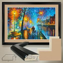 44Wx32H MELODY OF THE NIGHT by LEONID AFREMOV DOUBLE MATTE, GLASS and FRAME