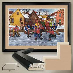 44Wx32H ON COMPTE by NICOLE LAPORTE HABS NORDIQUES DOUBLE MATTE, GLASS & FRAME