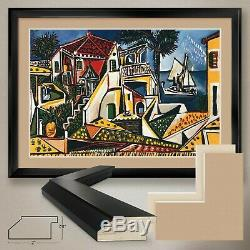 44Wx32H PAYSAGE MEDITERRANEEN by PABLO PICASSO DOUBLE MATTE, GLASS & FRAME