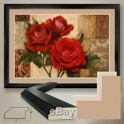 44Wx32H SUMMERS GIFT I by IGOR LEVASHOV -ROSES DOUBLE MATTE, GLASS and FRAME