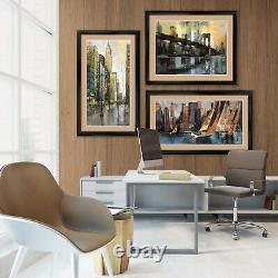 44Wx32H THE GRAND CANAL by A. DOMENICHINI DOUBLE MATTE, GLASS and FRAME