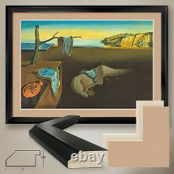 44Wx32H THE PERSISTANCE OF MEMORY by SALVADOR DALI -DOUBLE MATTE, GLASS & FRAME