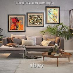 44Wx32H WAITING FOR CAB PARK AVENUE by MAX MORAN DOUBLE MATTE GLASS and FRAME