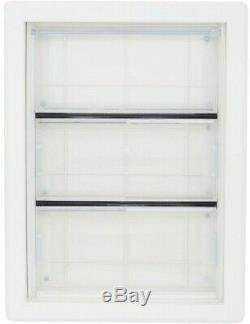6.625 in. X 11.25 in. Pet Patio Door Glass Frame with Dual Pane, White, Medium