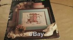 A Cameo of the Past Paula Vaughan Cross Stitch Picture Double Mat, Frame, Glass