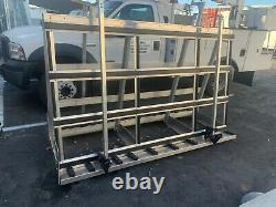 A Frame Glass Carrier 8'L x 5'H Double Sided with 5 ledges