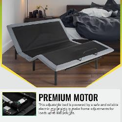 Adjustable Queen Bed Frame with Remote Control USB Charging Ports Massage