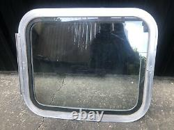 Airstream Side Glass WING WINDOW Curved Aluminum FRAME Dual Pane 1969-1974