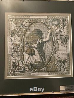 Alice Through The Looking Glass Double Sided Framed Blotter Art Signed