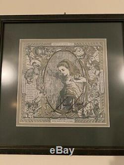 Alice Through The Looking Glass Double Sided Framed Blotter Art Timothy Leary Sg