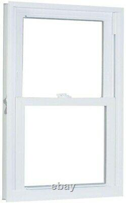 American Craftsman Double Hung Window Buck Frame 31.75 x 49.25 Inch White Vinyl