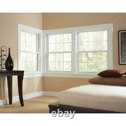 American Craftsman Double Hung Window Built-in J-Channel Nail Fin Frame Vinyl