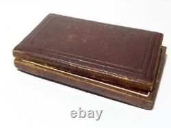 Antique Miniature Double Photograph Frame in Fitted Case A/F RESTORATION PROJECT