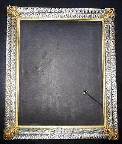 Antique Murano Frame Double Twisted Gold Spiral Italian Art Glass Deco/ Nouveau