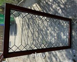 Antique style brand new double house beveled clear glass window in frame