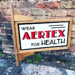 Art Deco Double Sided Aertex For Health Glass Shop Sign In Oak Frame. Very Rare