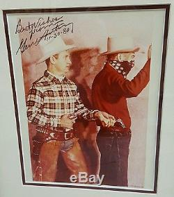 Autographed GENE AUTRY Photo Beautifully Framed, Double matted & UV Glass