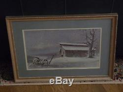 Ben Hampton Signed Prints Winter South Framed Double Matted Behind Glass