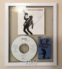 Bryan Adams SIGNED Waking up neighbours CD Framed in double glass with Tour Pass