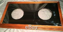 Collector Plate Frame Glass Double Display Case Bradford Exchange Franklin Mint