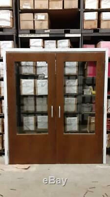 Commercial Fire Rated Interior Double Door Set with frame and glass windows