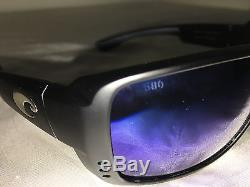 36c4f9822f Costa Del Mar Double Haul Matte Black Frame With Blue Mirror 580g Glass Lens  New