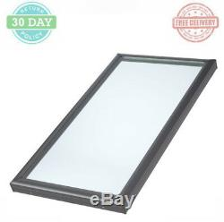 Curb-Mount Fixed Skylight Aluminum Frame Tempered Low-E3 Dual Glass Panes