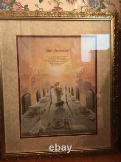Danny Hahlbohm THE INVITATION 41 X 35 Framed Art Double Matted Under Glass