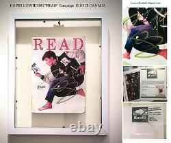 David bowie rare SIGNED READ Roots Postcard Framed withCOA double sided glass