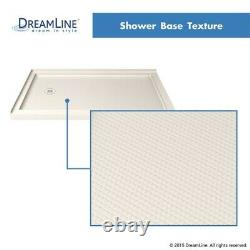 Double Threshold Shower Base 34 x 48 Left or Right drain. Biscuit