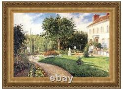 Garden of Les Mathurins at Pontoise Camille Pissarro Frame Double-Matted Print