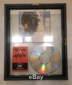 James taylor SIGNED New Moon Shine cd FRAMED double sided glass with 2010 VIP PASS