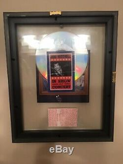 Joni Mitchell SIGNED! Turbulent Indigo CD Framed in double side glass withticket