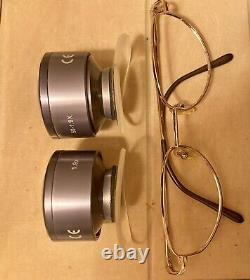 Keeler 50-1.9x Low Vision Aids Dual Loupe With Gold Framed Glasses Unused