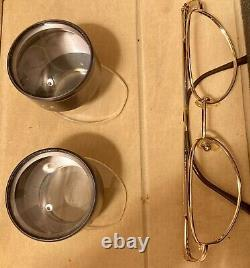 Keeler 50-1.9x Low Vision MD Aids Dual Loupe With Gold Framed Glasses Unused