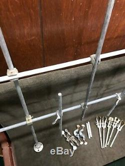 Large Lab Trellis, Frame, Glass Clamps, Double Rod clamp