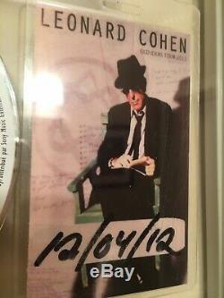 Leonard Cohen SIGNED Old Ideas CD Framed double glass with BACKSTAGE PASS