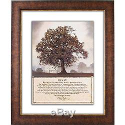 Living Life Double by Bonnie L. Mohr. Glass Matted Framed Memorabilia