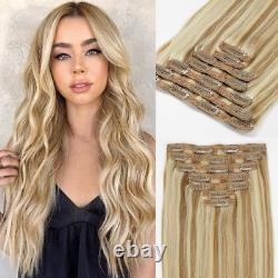 Loxxy 9A Grade Remy Human Clip In Human Hair Extensions Thicken Double Weft Remy