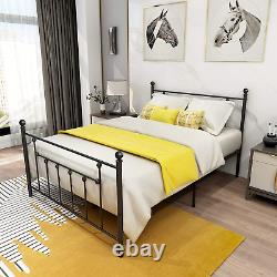 Metal Bed Frame Full Size with Headboard and Footboard Double Platform Mattress