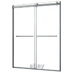 Miseno MSDCR7660DR Drift Double Roller Door 5/16 Clear Glass Frame Fits 55-59