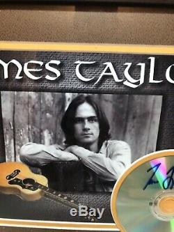 Musician JAMES TAYLOR. Hand Signed Cd With Double Matted Pic Framed In Glass