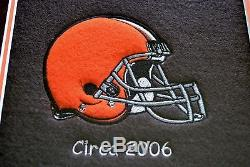 NFL Cleveland Browns Heritage Wool Stitched Double Matted Glass Framed Banner