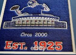 NFL New York Giants Heritage Wool Stitched Double Matted Glass Framed Banner